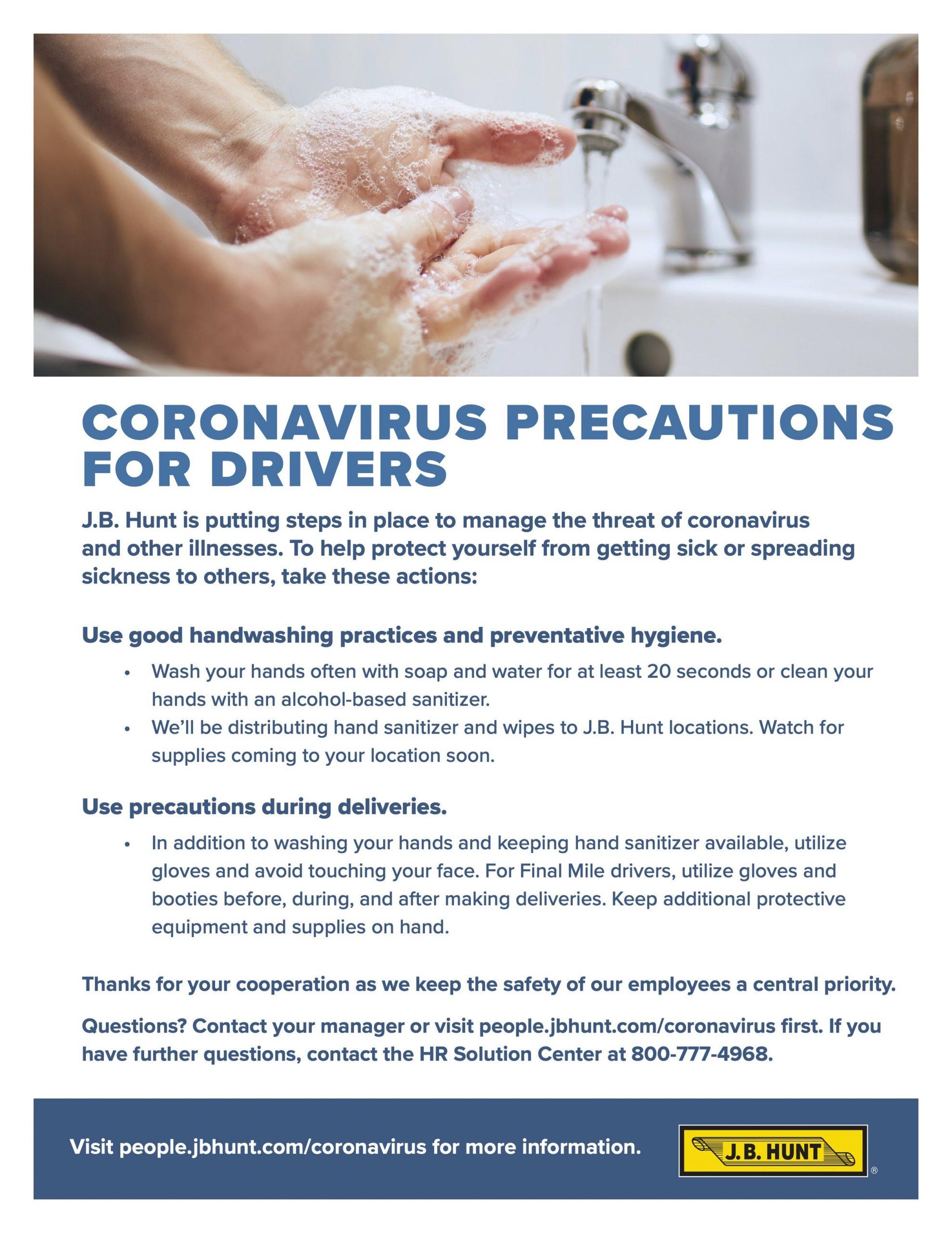 covid_jbhunt_Coronavirus+Precautions_Flyer