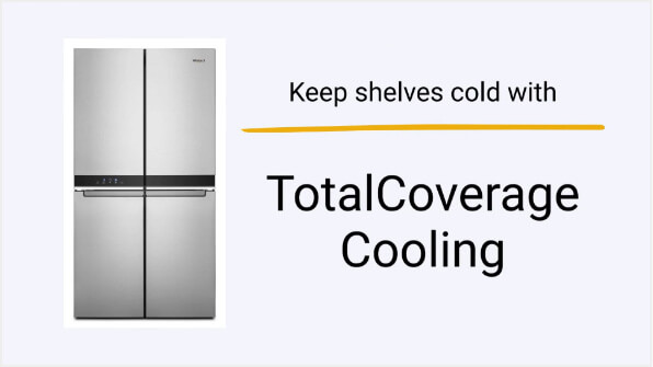 How TotalCoverage Cooling Works — Whirlpool® Counter-Depth 4-Door Refrigerator